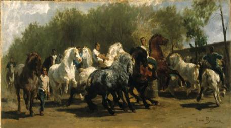 Rosa Bonheur French Realist Horse Fair ART